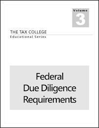 The Tax Preparer's Federal Due Diligence Requirements